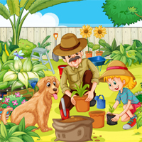Free online flash games - Garden Hidden Objects game - chicksgames