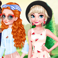 Free online flash games - Girls Watermelon Crush EgirlGames game - chicksgames