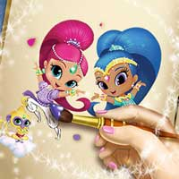 Free online flash games - Shimmer and Shine Coloring Book game - chicksgames