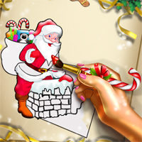 Free online flash games - Santa Christmas Coloring game - chicksgames