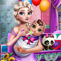 Free online flash games - Mommy Newborn Care game - chicksgames