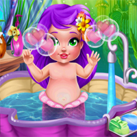 Free online flash games - Mermaid Baby Bath game - chicksgames