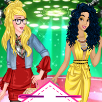 Free online flash games - Princesses Fashion Designers Battle game - chicksgames