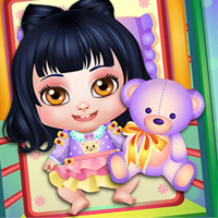 Free online flash games - Baby Snow Sick Day game - chicksgames