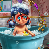 Free online flash games - Miraculous Baby Shower Care game - chicksgames