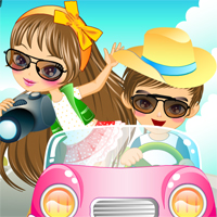 Free online flash games - Summer Vacation Couple game - chicksgames