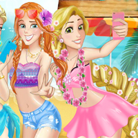 Free online flash games - Princess Beach Party game - chicksgames