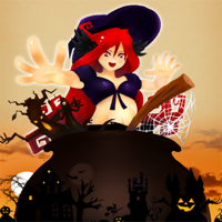 Free online flash games - Halloween Slide Puzzle game - chicksgames