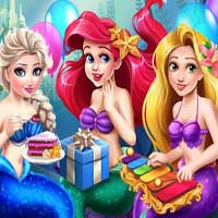 Free online flash games - Mermaid Birthday Party GirlsPlay game - chicksgames