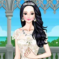 Free online flash games - White Prom Dresses game - chicksgames
