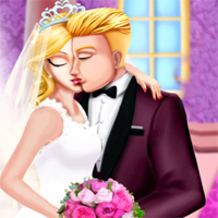 Free online flash games - Princess Wedding Kiss GirlGamey game - chicksgames