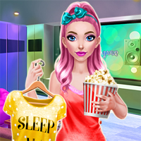 Free online flash games - Rosie Movie Night game - chicksgames