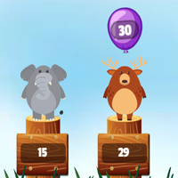 Free online flash games - Jungle Balloons Rounding game - chicksgames