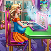 Free online flash games - Mommys Blog game - chicksgames