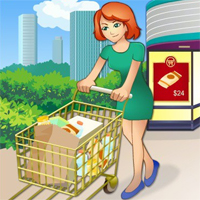 Free online flash games - Supermarket Numbers game - chicksgames
