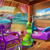 Free online flash games - Beach House Cleaning game - chicksgames
