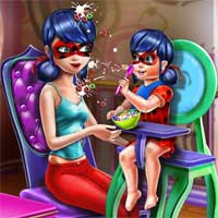 Free online flash games - Dotted Girl Toddler Feed game - chicksgames