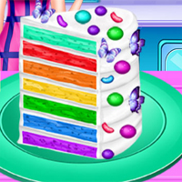 Free online flash games - Vincy Cooking Rainbow Birthday Cake game - chicksgames