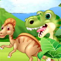 Free online flash games - Dino Sliding Puzzles game - chicksgames