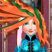 Free online flash games - Ice Princess Real Haircuts game - chicksgames
