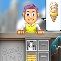 Free online flash games - Creamy Ice game - chicksgames