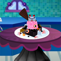 Free online flash games - Princess Halloween Ice Cream Click4Games game - chicksgames