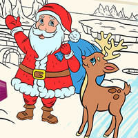 Free online flash games - Color Me Christmas game - chicksgames