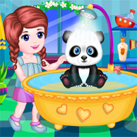 Free online flash games - Cute Panda Care game - chicksgames