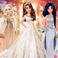 Free online flash games - Wedding Dress For Ariana MyCuteGames game - chicksgames