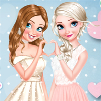 Free online flash games - Princesses Glittery Bridesmaids game - chicksgames