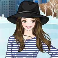 Free online flash games - Winter Hats Anime game - chicksgames
