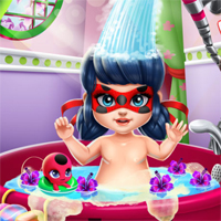 Free online flash games - Miraculous Hero Baby Bath game - chicksgames
