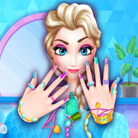 Free online flash games - Ice Princess Nails Salon game - chicksgames