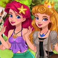 Free online flash games -  Princess Casual Cosplay Challenge game - chicksgames