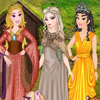 Free online flash games - Princess Of Thrones DressupWho game - chicksgames