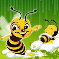 Free online flash games - Hidden Bee game - chicksgames