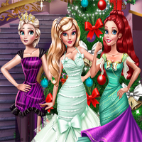 Free online flash games -  Princesses Christmas Preparations game - chicksgames